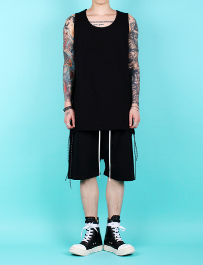 [MELROY] String Sleeveless tee